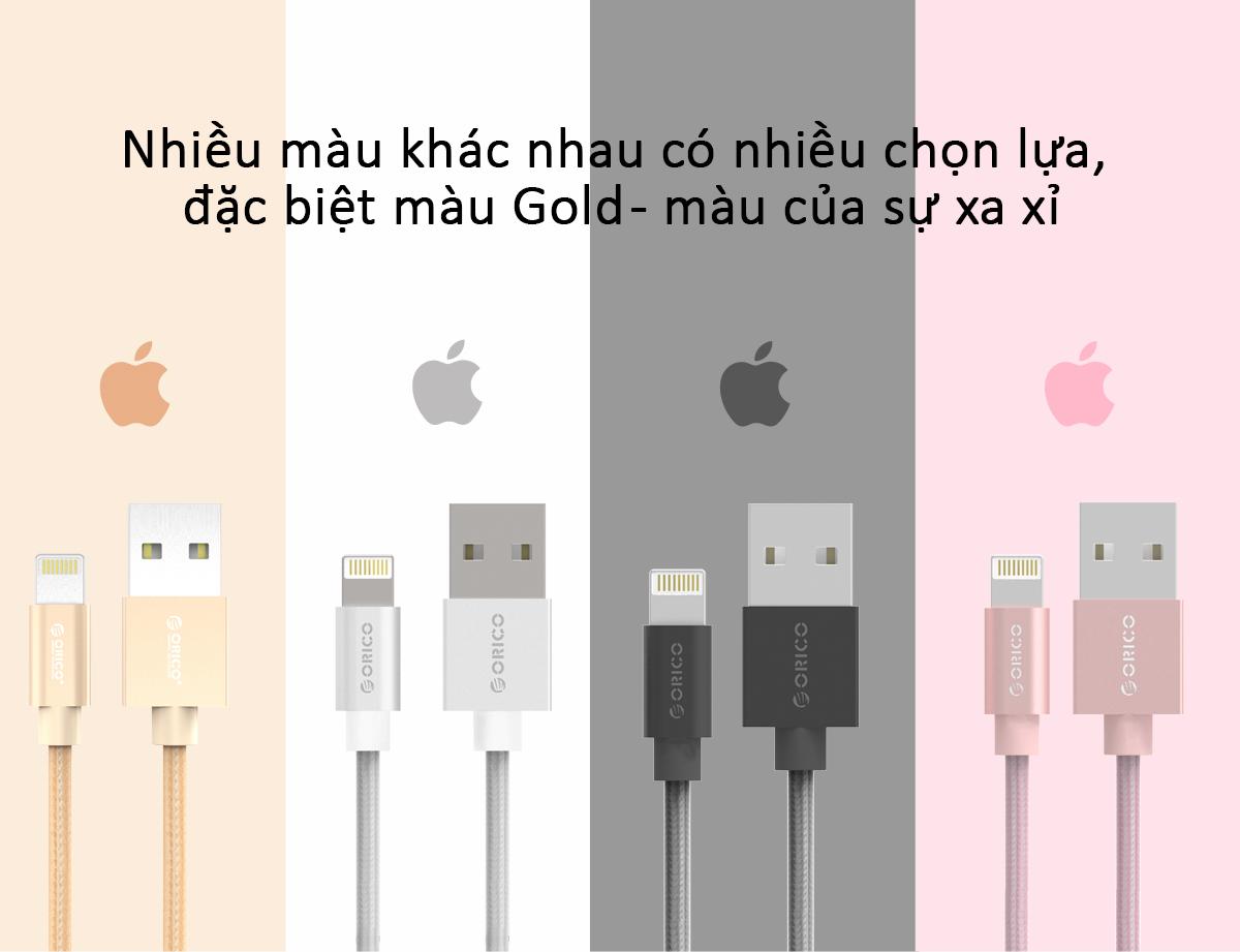 cáp sạc iphone/ipad orico LTF-10