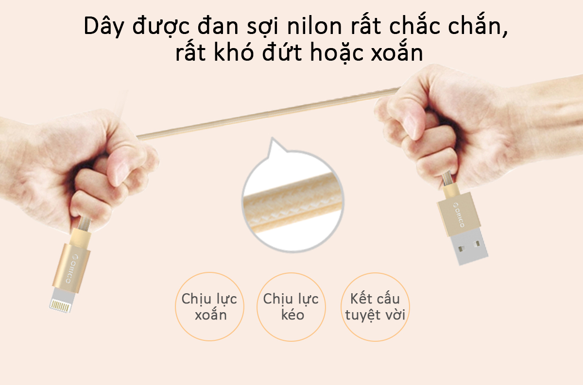 cáp sạc iphone/ipad orico LTF-10